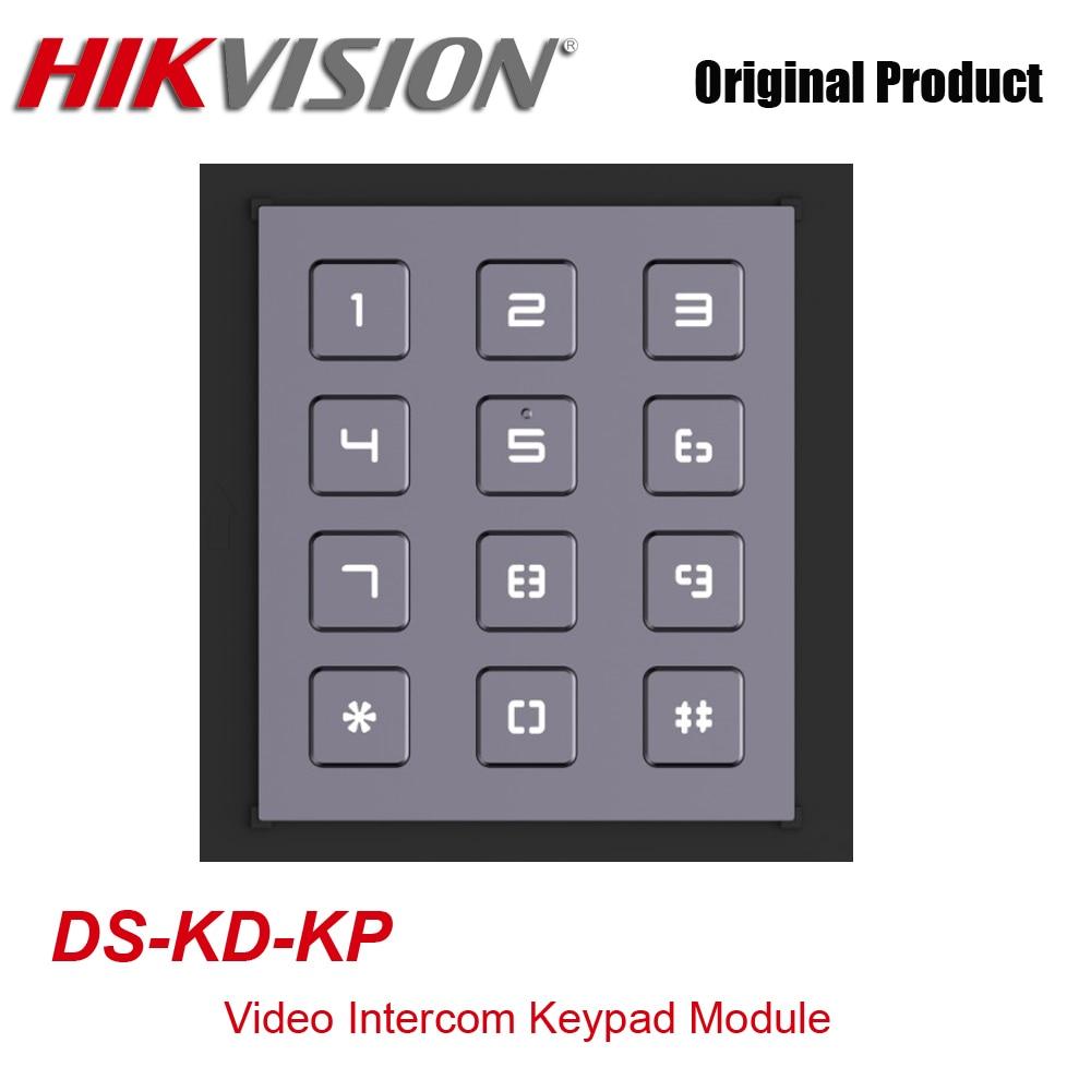 Оригинальный Hikvision DS-KD-KP модульная дверная станция модуль клавиатуры видео домофон принадлежность для DS-KD8003-IME1