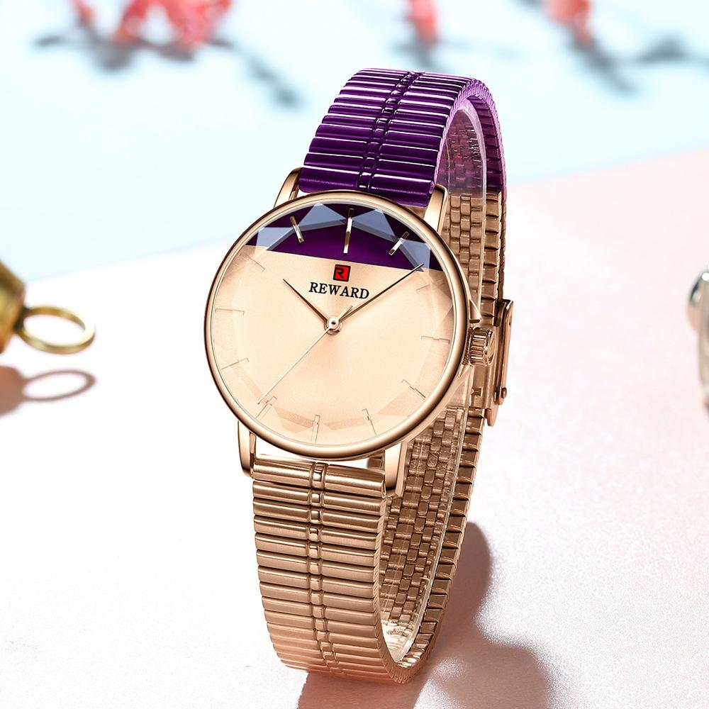 REWARD Women Watches 2020 New Modern Dial Stainless Steel Strap Quartz Watch Waterproof Ladies Stainless Steel Casual Wristwatch enlarge