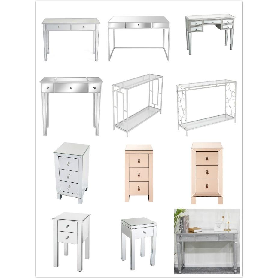 منضدة الزينة مع مرآة ، 12 نمط ، منضدة الزينة ، طاولة السرير ، وحدة التحكم ، أثاث غرفة النوم ، أجواء راقية وجميلة