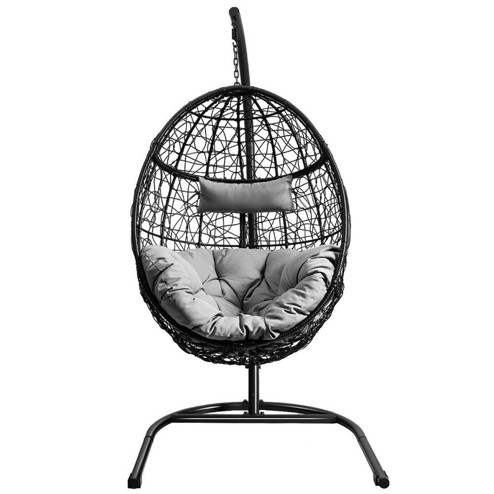 OP70424-كرسي أرجوحة مع حامل معلق ، مقعد بيضة ، للداخل والخارج