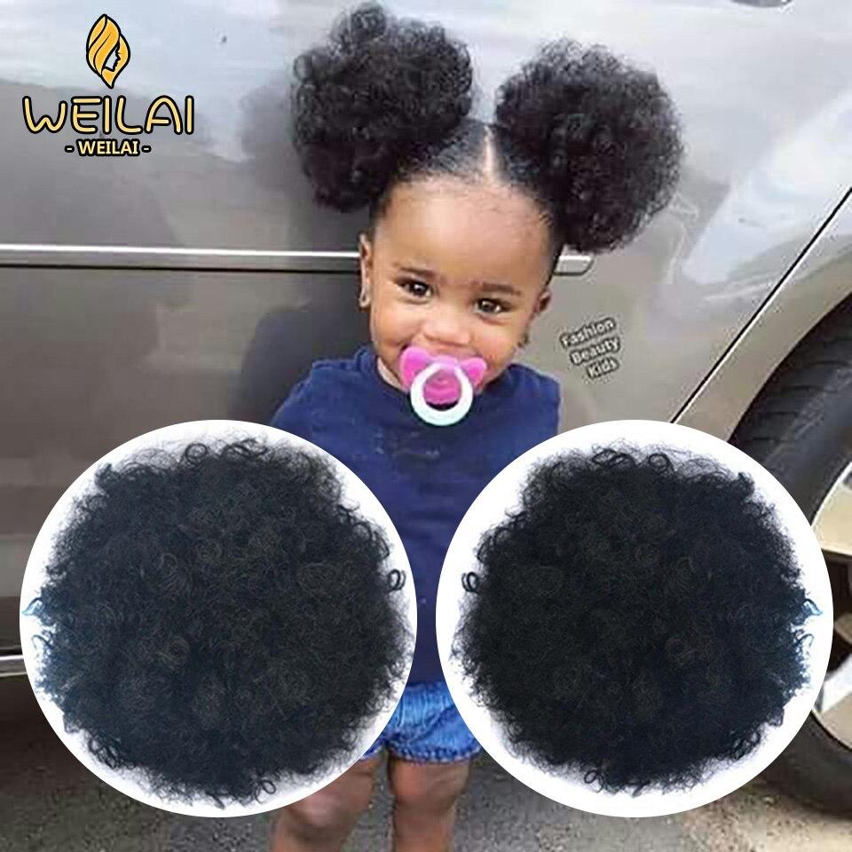 Weilai bun chignon acessórios para o cabelo postiche cheveux afro puff macio frito cabeça elástica corda de cabelo sintético pães para mulher negra
