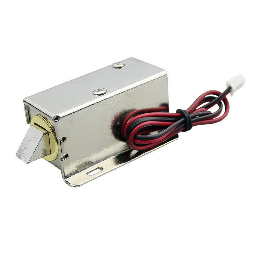 DC 12V File Display Cabinet Drawer Latch Assembly Solenoid Electric Lock Fit For Desk Cabinet Window Or Safe Box