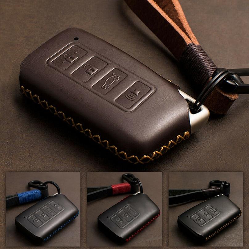 1 pçs couro genuíno caso chave do carro capa proteger saco para lexus nx200 es200 250 rx200t caso chave escudo es rs gs é lx série nx