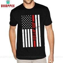 Design BJJ brésilien Jiu Jitsu USA drapeau américain T-Shirts hommes sur mesure à manches courtes coton doux noir T-Shirts à col rond chemises