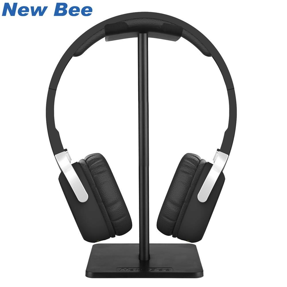 Nova abelha suporte de fone de ouvido suporte fone de ouvido clássico suporte com barra apoio alumínio abs base sólida para mesa