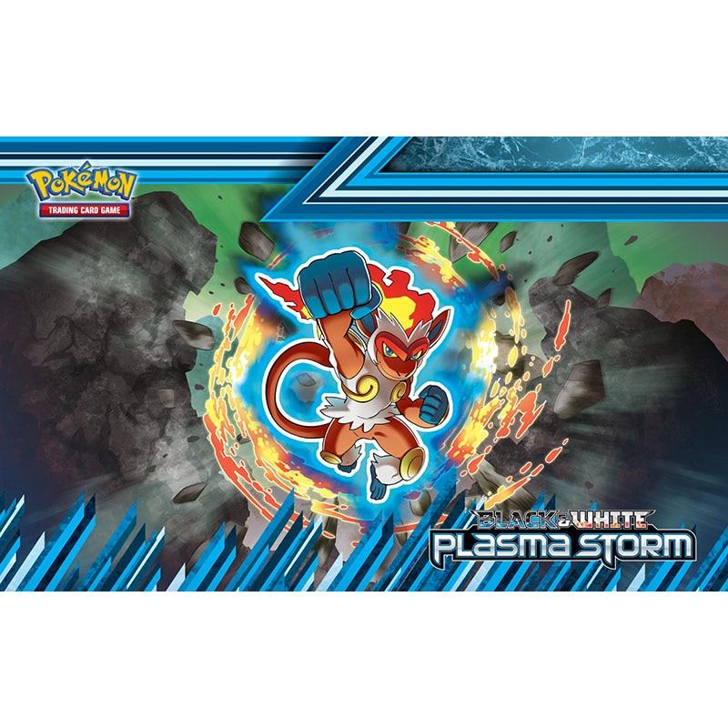 Takara Tomy Pokemon tarjeta de juego alfombra monstruos juego Mat Infernape mono tormenta de Plasma PTCG accesorios Mouse Pad
