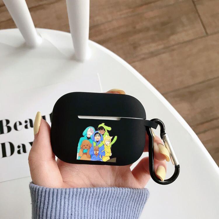 Силиконовый чехол с рисунком аниме Yuri on Ice для Airpods Pro, беспроводной чехол с Bluetooth для Apple Airpods Pro, чехол, чехол для наушников чехол
