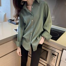Women's Spring Clothing Very Fairy Blouse Western Style Chiffon Blouse Long-Sleeved Student T-shirt
