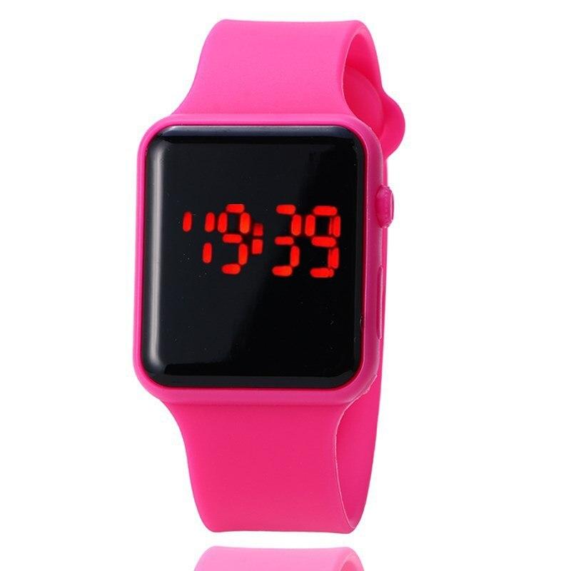 Reloj electrónico Unisex para hombres y mujeres, reloj LED Digital deportivo, esfera cuadrada, reloj femenino, reloj digital de mujer