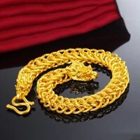 real 24k gold jewelry bracelets for women men fine pulseira feminina argent 925 bijoux bijoux femme bizuteria wedding bracelets