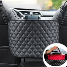 Car Handbag Holder Luxury Leather Seat Back Organizer Seat Side Storage Leather Bag Multifunction Se
