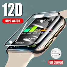 12D Full Coverage Screen Protector film for OPPO Watch 41MM 46MM Soft Round Screen Protector Cover A