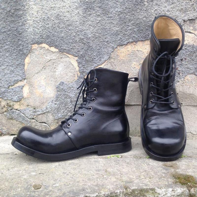 Мужские-ботинки-ручной-работы-из-искусственной-кожи-на-шнуровке