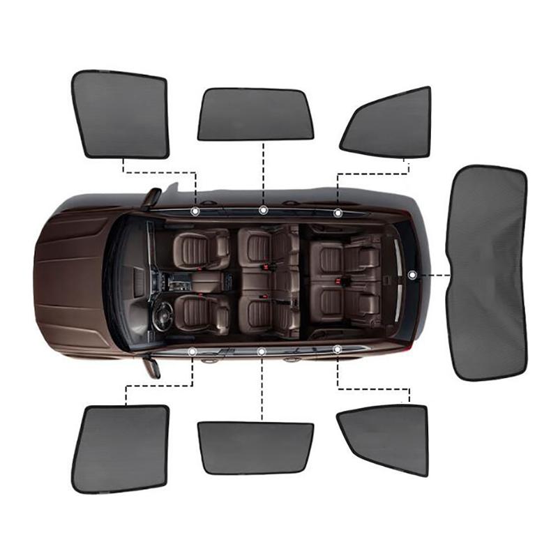 For Volvo V60 XC90 XC60 S90 S90L V40 Accessories Magnetic Car Sun shade Mesh Sunshade Side Window Sun Visor Sunscreen Insulation