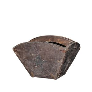 China Old Beijing Old Goods Volumetric Grain Measuring Tool Pure Wood Sunjin Bucket