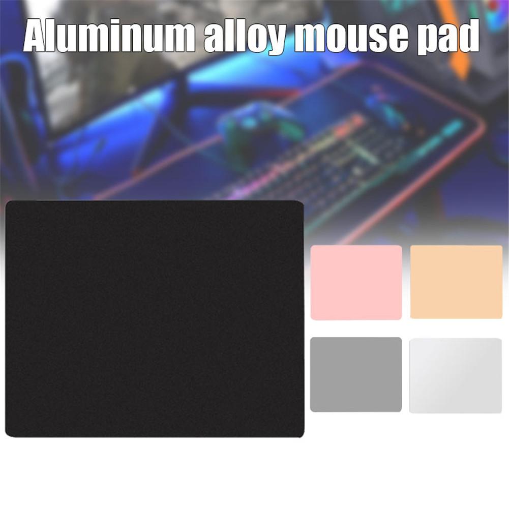 Mousepad de Alumínio do Metal da Almofada do Rato do Lado Suave para o Escritório e Jogos Duplo Impermeável Ultra Puo88