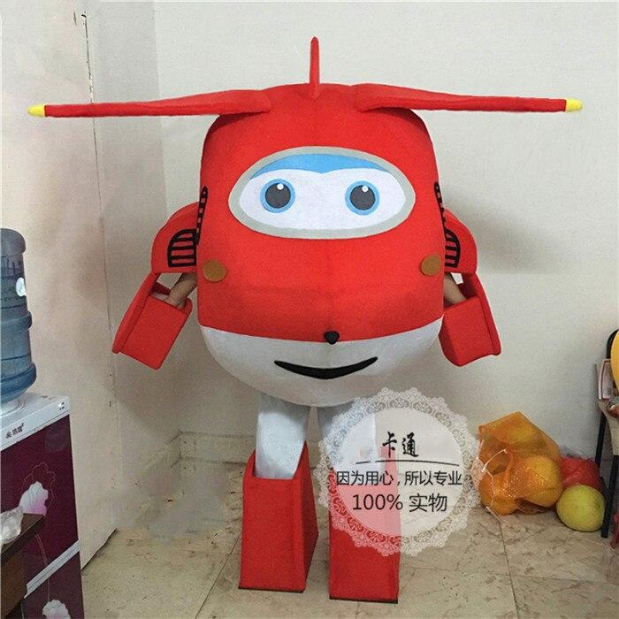 Disfraz de superalas Jett, disfraz de Mascota de avión rojo de dibujos animados, disfraz de Mascota, fiesta de Halloween, Festival, disfraz de fantasía, disfraz de adulto