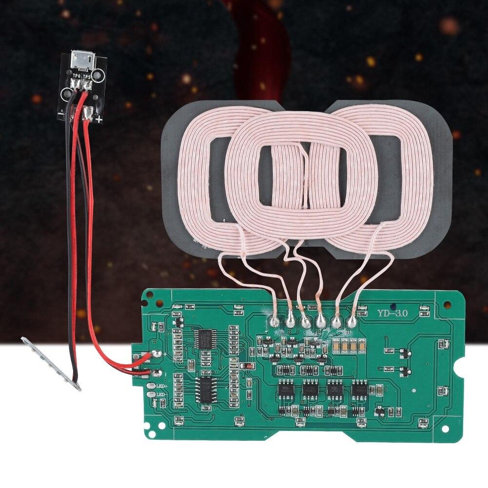 SOONHUA chargeur émetteur Module bricolage QI Standard 3 bobine sans fil charge émetteur Module sans fil Modules de charge