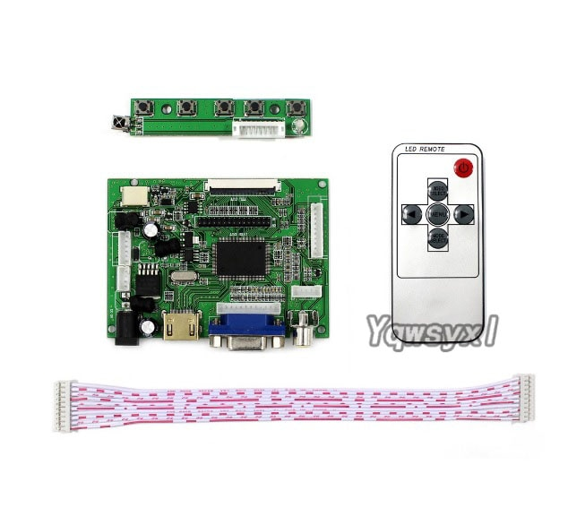 Yqwsyxl HD + VGA 2AV وحدة تحكم بشاشة إل سي دي مجلس العمل ل 8 بوصة 800x600 AT080TN52 EJ080NA-05A EJ080NA-05B شاشة LCD