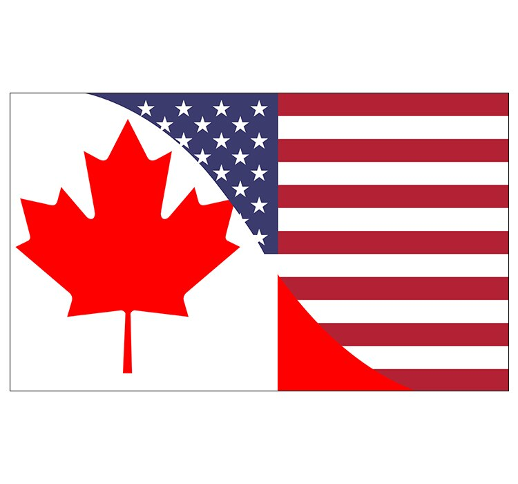 free  shipping  xvggdg  90x150cm Canada flag Banner   Canada-USA Friendship Flag  National flag Canada Decoration banner 201 countries flag national flag symbol fridge magnets combine order accept wholesale business souvenirs