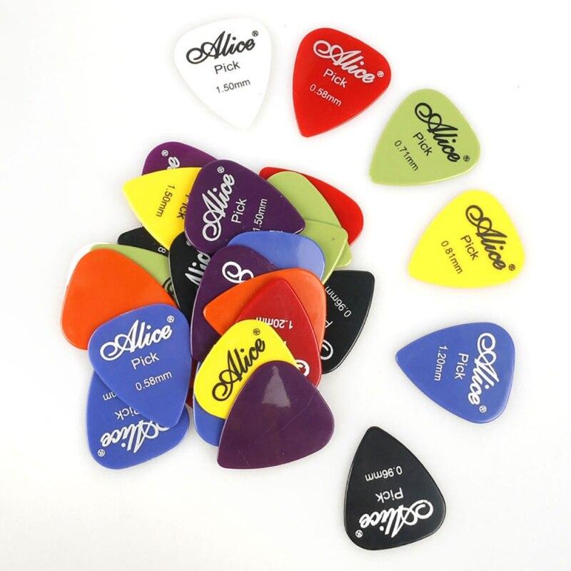 Электрический Аксессуары для гитары инструмент Толщина 0,58-1,5 мм 24 Вт, 30 Вт/40/50/100 шт Гитара отбор в штучной упаковке Алиса акустической гитары