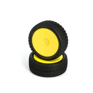 LC Racing L6250 All Terrain Buggy Pre-Mounted Front tires (Yellow 2pcs)