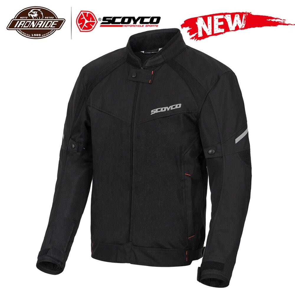 Scoyco verão men motocicleta jaqueta motocross fora de estrada jaqueta de corrida do motor malha respirável moto jaqueta de proteção engrenagem