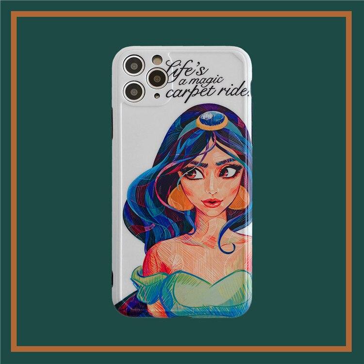 Funda de teléfono Retro jasmine sexy de princesa para iPhone 11 Pro Max kawaii, funda bonita para iPhone XS XR X 7 8 Plus 7Plus