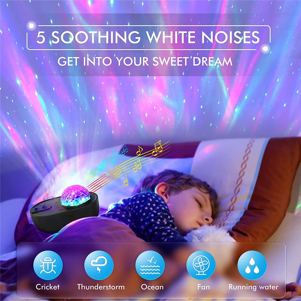 LED Starry Sky Projector Night Light Spaceship Lamp Bluetooth Speaker Galaxy Projection Lamp For Kids Gift Home Party Decor enlarge