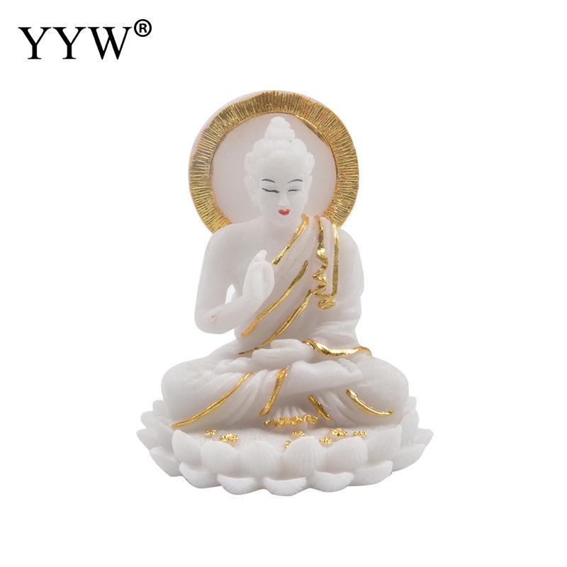Buda decoración artesanías Buda estatua Fengshui Buda escultura Mesa decoración adornos hogar Oficina regalo decorativo