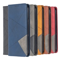 Чехол для Xiaomi Poco M3, Магнитный кожаный чехол-книжка с подставкой и держателем для карт