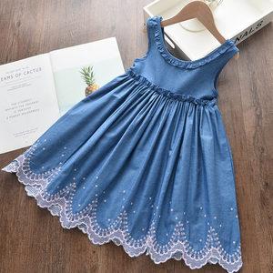 Baby Girl Princess Dress Fashion Costume for Girl Denim Vest Skirt Children's Clothing Summer Dresses Baby Girls Clothes