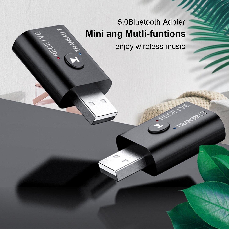 Bluetooth 5,0 USB 2 в 1 беспроводной адаптер передатчик Bluetooth для компьютера ТВ ноутбука динамик гарнитура адаптер Bluetooth приемник
