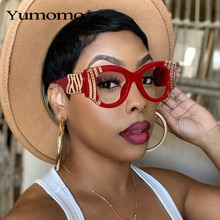 2020 Fashion Cat Eye Women Luxury Metal Decoration Sunglasses Vintage Anti-blue light Lens Eyewear M