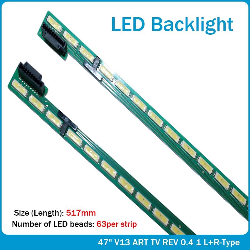 New 20 PCS 63LED 517mm LED backlight strip For LG 47LA6600 6922L-0071A 6916L1179B 6920L-0001C 47