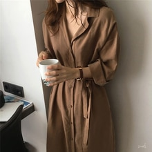 2020 Fashion Trench Coat For Women Silm Loose Lapel Over The Knee Trench Coat Ladies Sunscreen Trenc