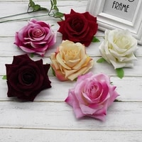 1pcs silk quality roses head for artificial flower wall home wedding decoration valentines day gift diy wreaths vase decoration