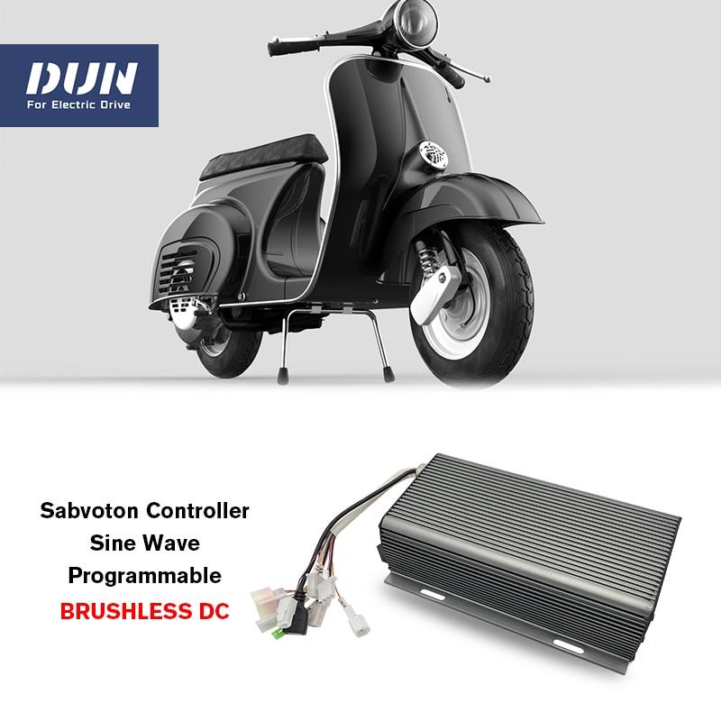 برمجة شرط موجة Sabvoton SVMC72150 72 فولت 150A تحكم عن 3kw QS دراجة بها إضاءة محور المحرك