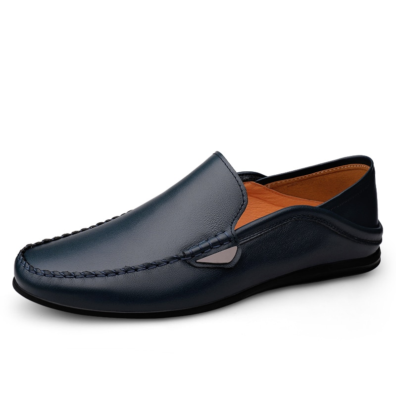 Peas Shoes for Men Leisure Soft Comfy Men Loafers Zapatillas Hombre Classics Flat Driving Shoes Conc