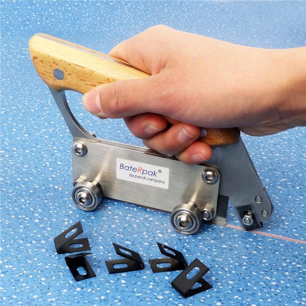 BateRpak آلة حفر أرضية لفة PVC ، سكين مشقوق يدويًا للعجلة ، آلة تحزيز أرضية الفينيل