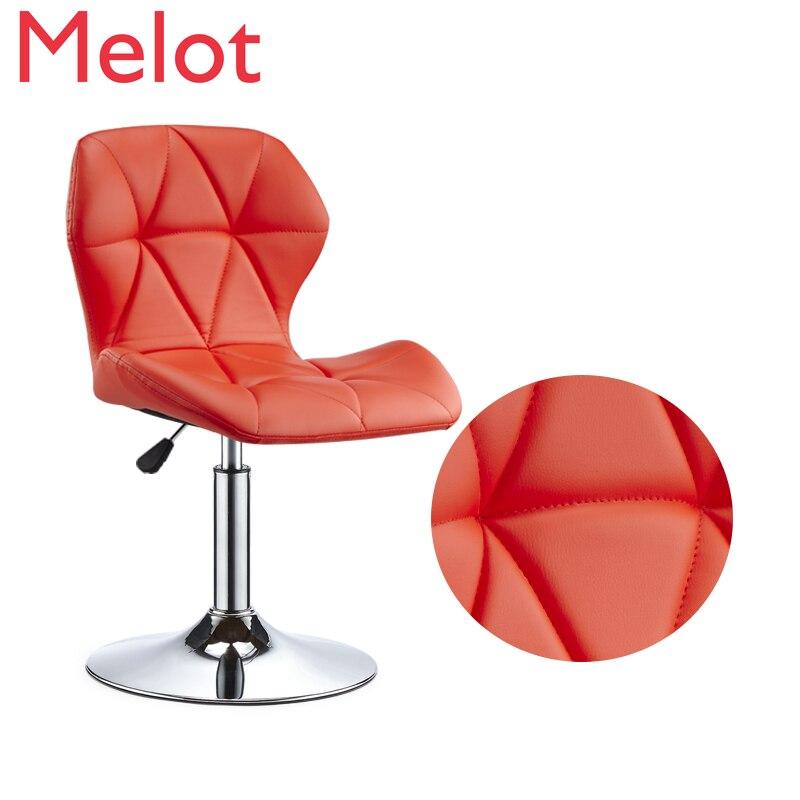 Подъемные барные стулья, вращающиеся барные стулья, высокие стулья для дома, модные креативные металлические стулья, 2019