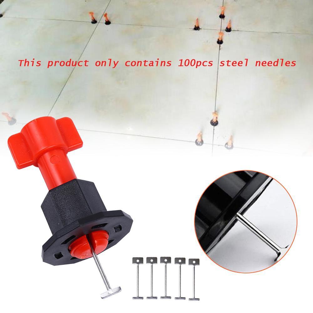 Kit per sistema di livellamento piastrelle da 100 pezzi solo aghi per - Strumenti di costruzione - Fotografia 1