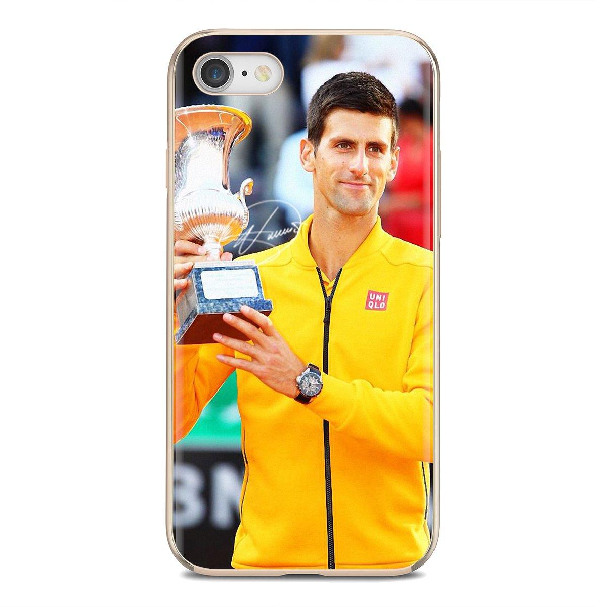 Novak Djokovic jugador de tenis para Xiaomi Mi A1 A2 A3 5X 6X 8 9 9t Lite SE Pro Mi Max Mix tableta amortiguador Tech accesorio beige Rojo Negro compruebe Tartan tableta amortiguador 2S funda de carcasa blanda