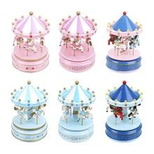 NICEYARD Music Boxes Kid Toy Carousel Box Merry-go-round Music Boxes Christmas Wedding Birthday Gift