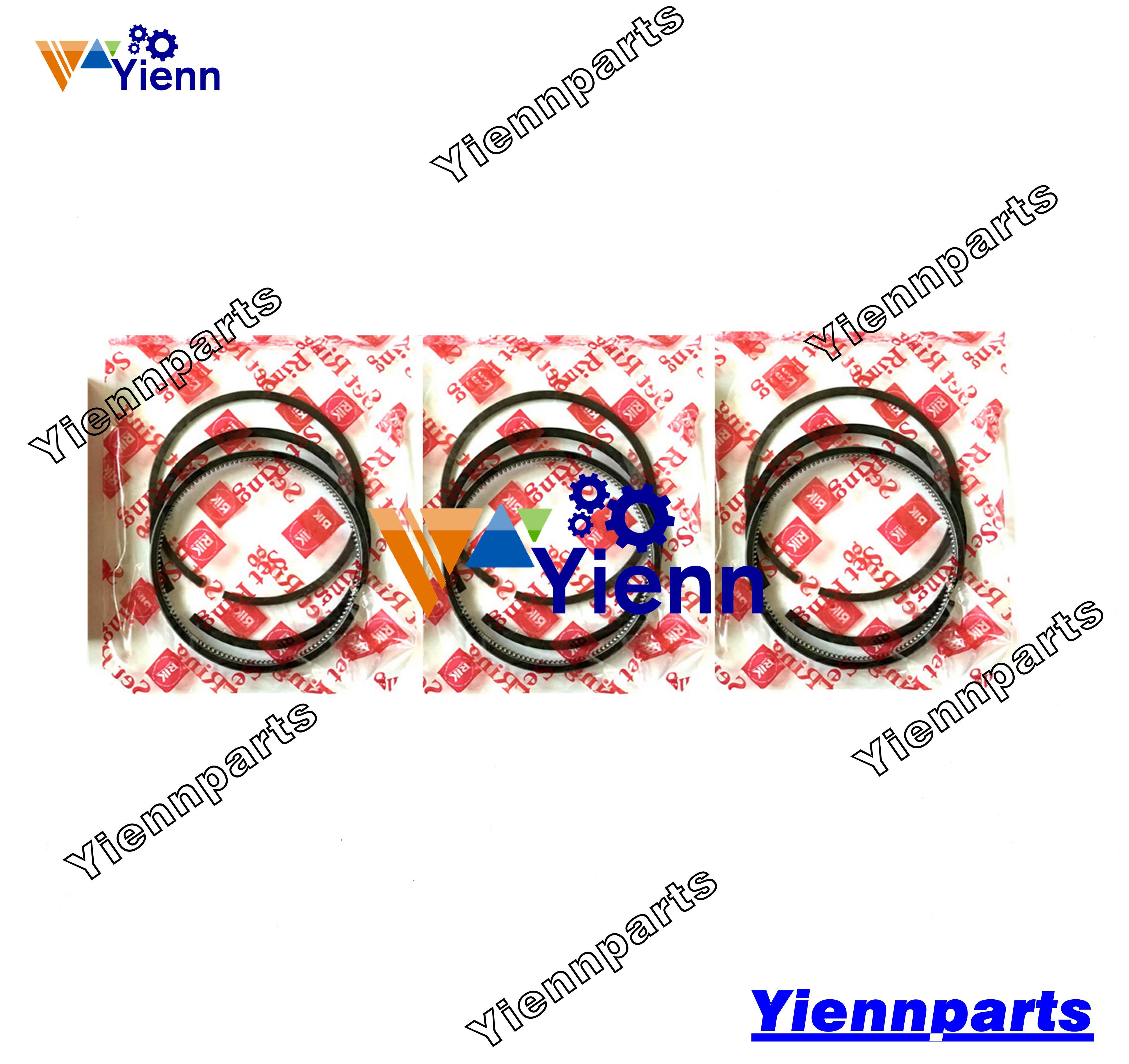 Für Yanmar 3TNE74 3TNV74 Kolben Ring Set 119623-22500 STD Größe Für TAKEUCHI TB216 Mini Excacator 3TNV74 Motor Reparatur teile