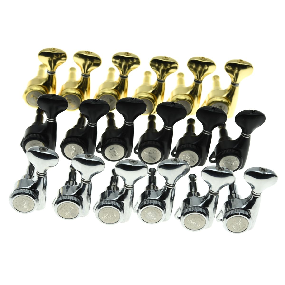 Kaish canhoto 6 em linha 181 guitarra bloqueio tuners máquina cabeças bloqueio chaves de ajuste pegs para at/tele ou guitarras elétricas