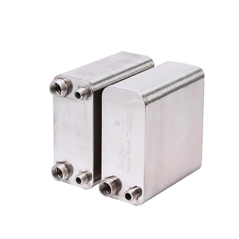 38 لوحات مبادل حراري من الصلب غير القابل للصدأ لوحة من النحاس نوع سخان مياه SUS304