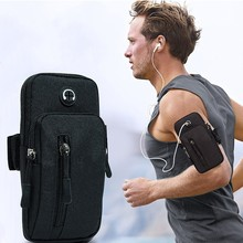 Running Men Women Arm Bags for Phone Money Keys Outdoor Sports Arm Package Bag with Headset Hole Sim
