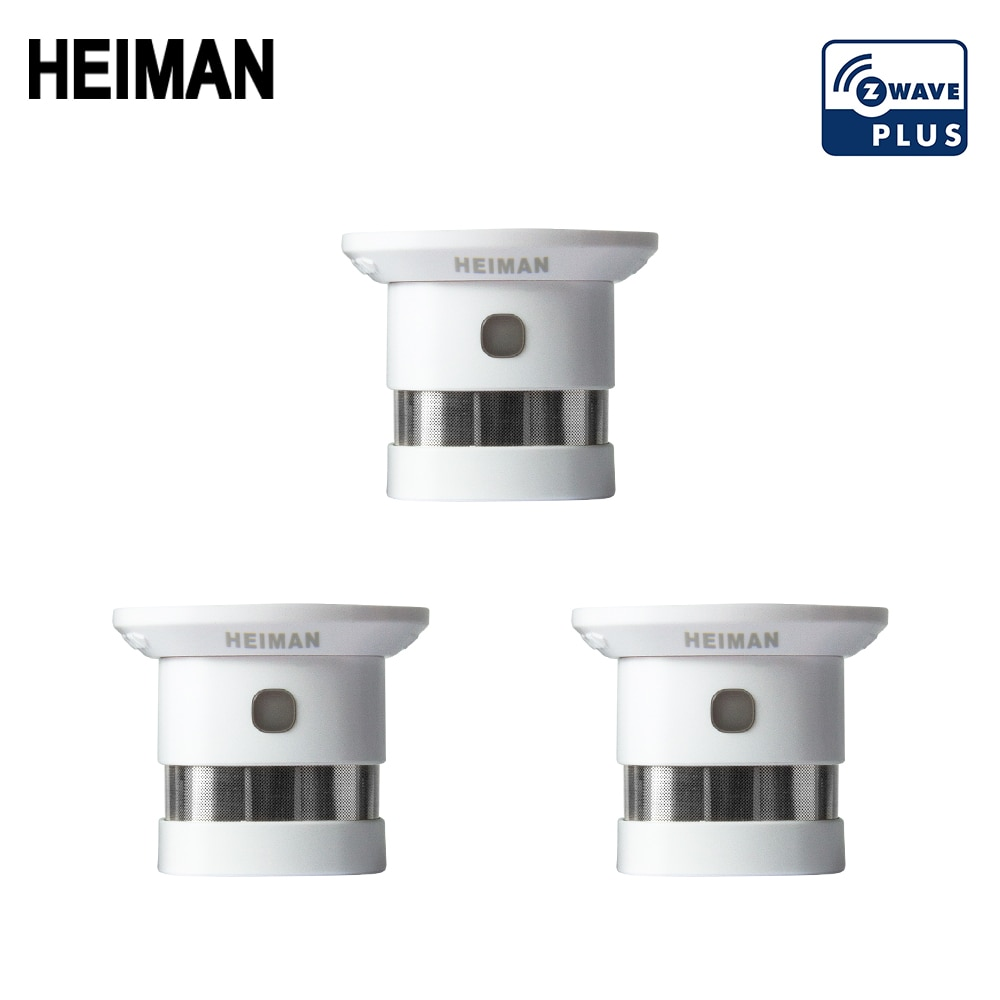 free shipping de hs high sensitivity broadband microwave coaxial rf detector 0 01 3ghz 9ghz HEIMAN Free Shipping Zwave Fire protection alarm  Smart Z-wave Smoke detector  868MHz 3pcs High sensitivity Z wave Safety Sensor