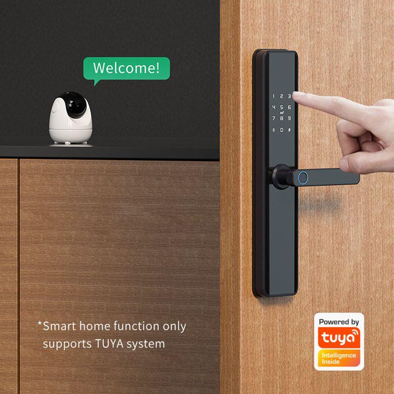Tuya Wifi Smart Door Lock Fingerprint Door Lock Digital Keyless TTLock For Bluetooth Smart Lock For Hotel Apartment Smart Home